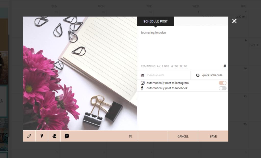 Plane deine Instagram-Beitraege direkt in Planoly, dem Online-Planungstool ein.
