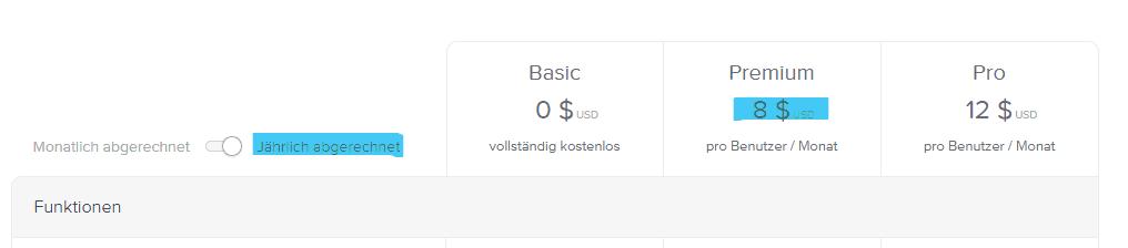 Zahlungsplan aktualisieren