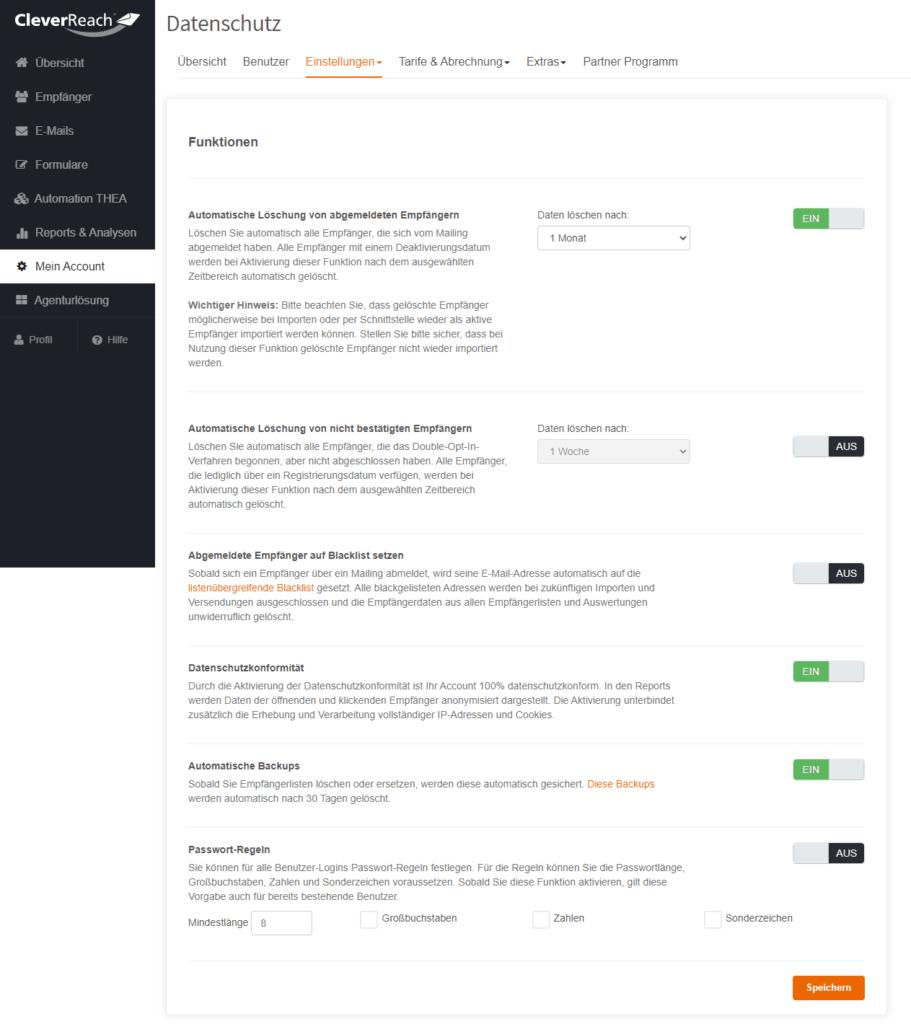 Dsgvo-Tools bei CleverReach - Newsletter-Vergleich von vier kostenlosen Newsletter-Tools