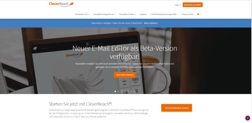 CleverReach im Vergleich von kostenlosen Newsletter-Tools.