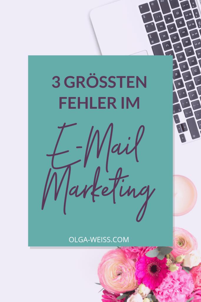 Die drei größten Fehler im E-Mail-Marekting. Pingrafik