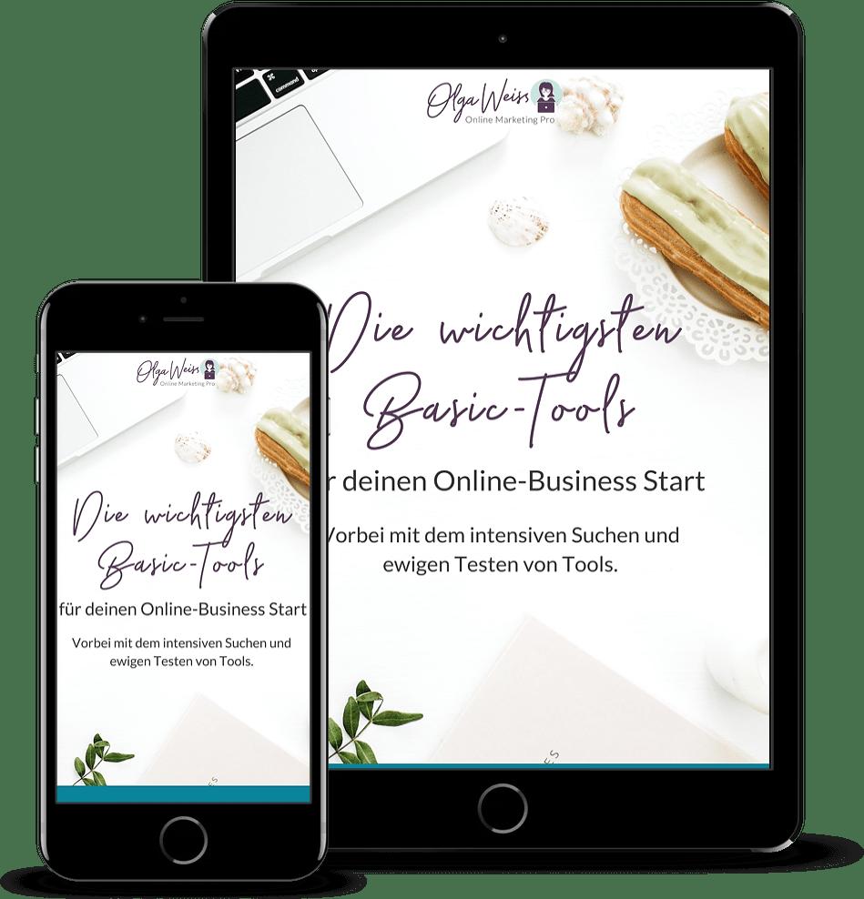 Freebie Die wichtigsten Basic Tools für dein Online-Business