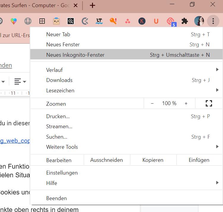 Inkognito-Fenster im Browser nutzen - Produkivitätshack für deinen Browser