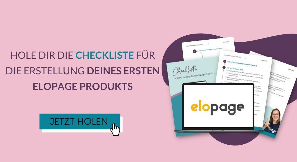 Link-Page elopage-Checkliste