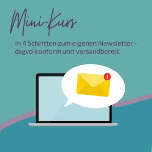 Warteliste zum Mini-Kurs In 4 Schritten zum dsgvo-konformen Newsletter