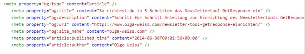 Rich Pin Code für Article-Pins - Pinterest Grundlagen Nr. 3