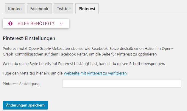 Website bei Pinterest mit Hilfe des Yoast SEO Plugins verifizieren - Pinterest Grundlagen Nr. 2