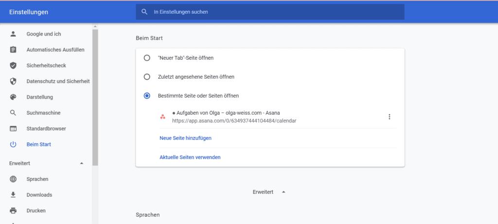 Anleitung, eine Startseite in einem Browser zu hinterlegen - Tipps für Browsernutzung