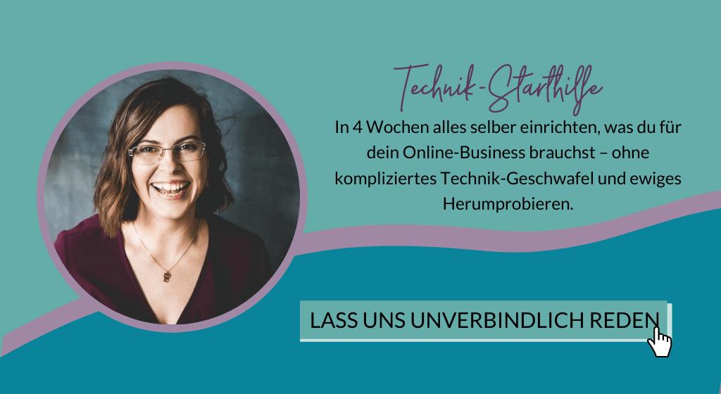 Technik-Starthilfe - 1:1 Technik-Mentoring mit Olga Weiss Technikexpertin