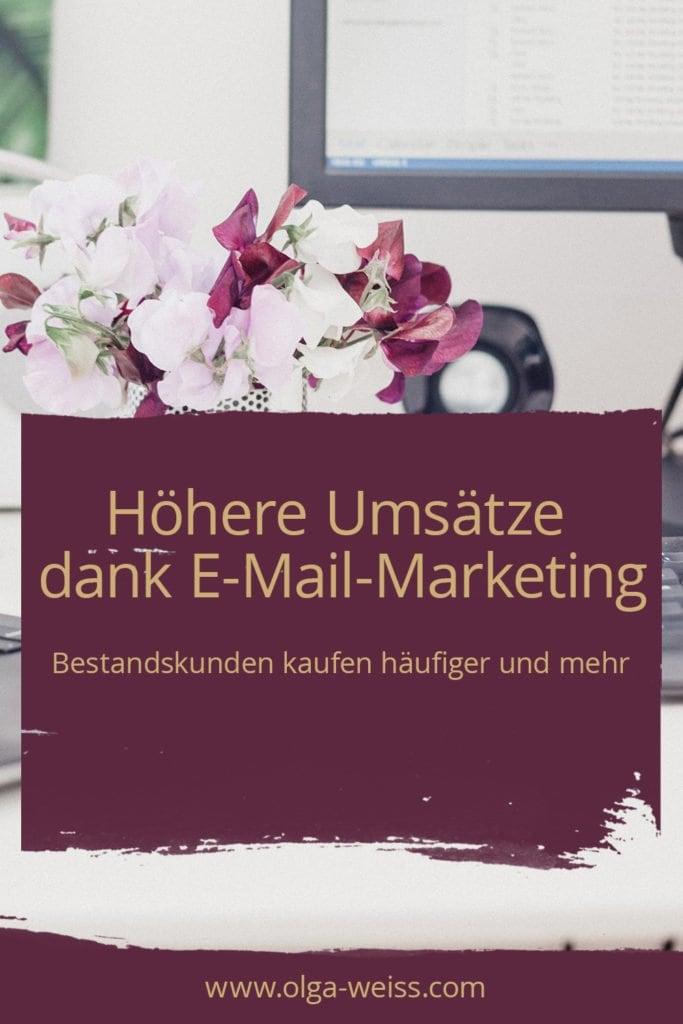 Höhere Umsätze dank E-Mail-Marketing. Bestandskunden kaufen häufiger und mehr.