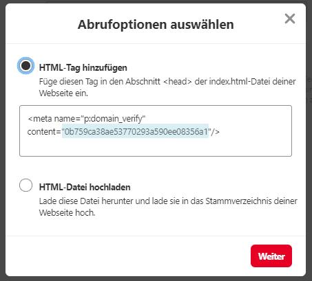 Website bei Pinterest verifizieren  - Pinterest Grundlagen Nr. 2