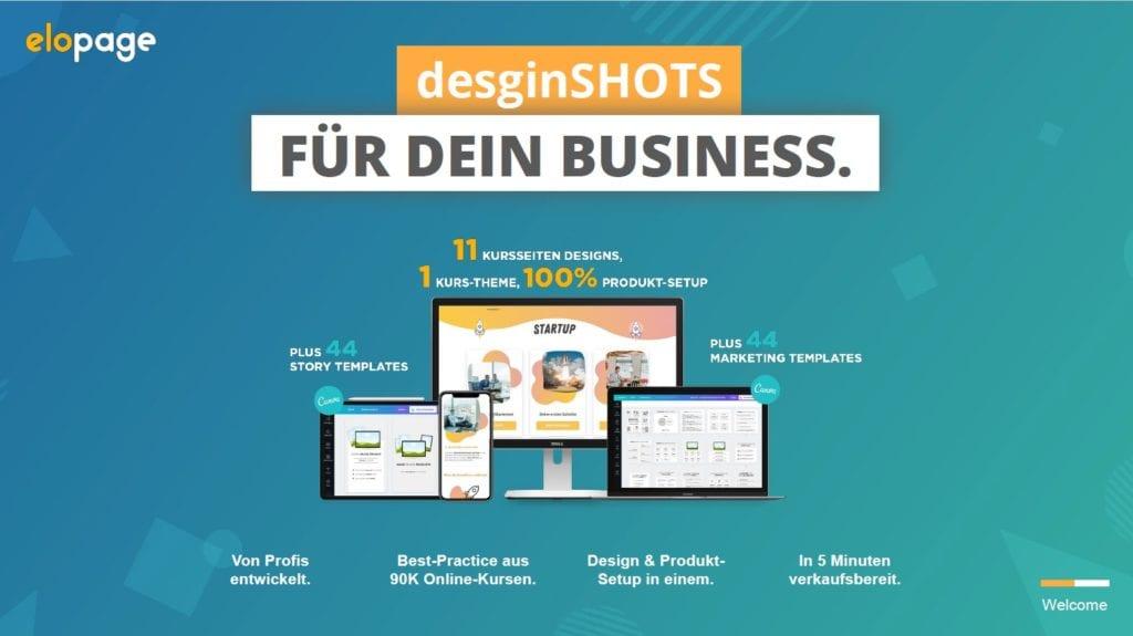 designShots - Vorlagen für dein Onlinebusiness und deine digitalen Produkte